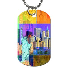 New York City The Statue Of Liberty Dog Tag (one Side) by Amaryn4rt