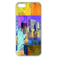New York City The Statue Of Liberty Apple Seamless Iphone 5 Case (color) by Amaryn4rt
