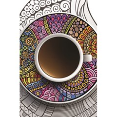Ethnic Pattern Ornaments And Coffee Cups Vector 5 5  X 8 5  Notebooks by Amaryn4rt