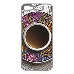 Ethnic Pattern Ornaments And Coffee Cups Vector Apple Iphone 5 Case (silver) by Amaryn4rt