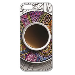 Ethnic Pattern Ornaments And Coffee Cups Vector Apple Seamless Iphone 5 Case (clear)