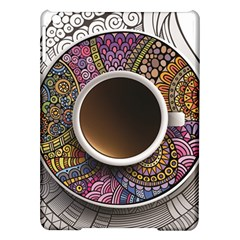 Ethnic Pattern Ornaments And Coffee Cups Vector Ipad Air Hardshell Cases by Amaryn4rt