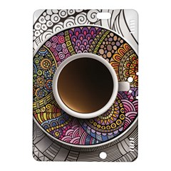 Ethnic Pattern Ornaments And Coffee Cups Vector Kindle Fire Hdx 8 9  Hardshell Case by Amaryn4rt