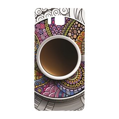 Ethnic Pattern Ornaments And Coffee Cups Vector Samsung Galaxy Alpha Hardshell Back Case by Amaryn4rt