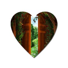 Beautiful World Entry Door Fantasy Heart Magnet by Amaryn4rt