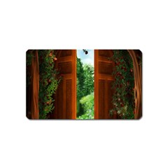 Beautiful World Entry Door Fantasy Magnet (name Card) by Amaryn4rt