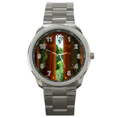 Beautiful World Entry Door Fantasy Sport Metal Watch by Amaryn4rt