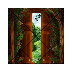 Beautiful World Entry Door Fantasy Acrylic Tangram Puzzle (6  X 6 ) by Amaryn4rt