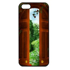 Beautiful World Entry Door Fantasy Apple Iphone 5 Seamless Case (black) by Amaryn4rt