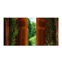 Beautiful World Entry Door Fantasy Satin Wrap by Amaryn4rt