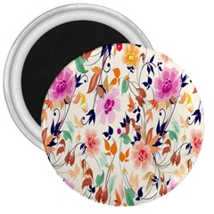 Vector Floral Art 3  Magnets