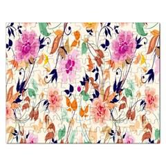 Vector Floral Art Rectangular Jigsaw Puzzl by Amaryn4rt