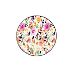 Vector Floral Art Hat Clip Ball Marker (4 Pack) by Amaryn4rt