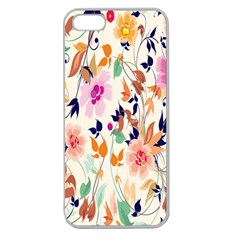 Vector Floral Art Apple Seamless Iphone 5 Case (clear) by Amaryn4rt