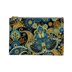 Retro Ethnic Background Pattern Vector Cosmetic Bag (large)