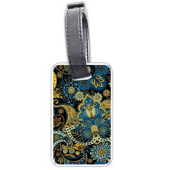Retro Ethnic Background Pattern Vector Luggage Tags (one Side)