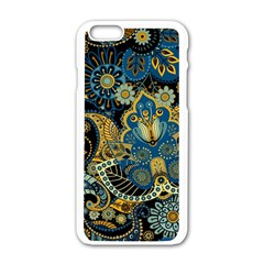 Retro Ethnic Background Pattern Vector Apple Iphone 6/6s White Enamel Case by Amaryn4rt