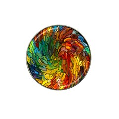 Stained Glass Patterns Colorful Hat Clip Ball Marker (10 pack) by Amaryn4rt