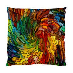 Stained Glass Patterns Colorful Standard Cushion Case (one Side)