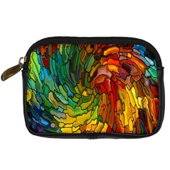 Stained Glass Patterns Colorful Digital Camera Cases by Amaryn4rt