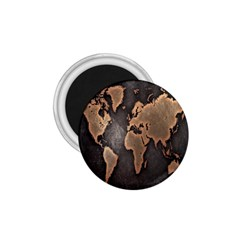 Grunge Map Of Earth 1 75  Magnets