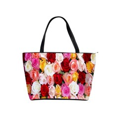 Rose Color Beautiful Flowers Shoulder Handbags by Amaryn4rt