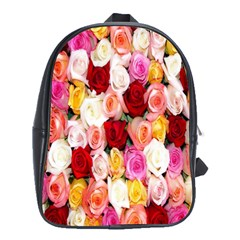 Rose Color Beautiful Flowers School Bags (xl)  by Amaryn4rt