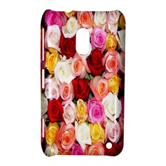 Rose Color Beautiful Flowers Nokia Lumia 620 by Amaryn4rt