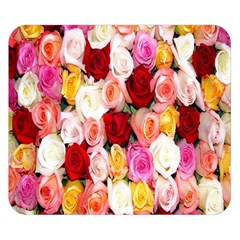 Rose Color Beautiful Flowers Double Sided Flano Blanket (small)  by Amaryn4rt