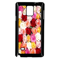 Rose Color Beautiful Flowers Samsung Galaxy Note 4 Case (black) by Amaryn4rt