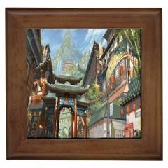 Japanese Art Painting Fantasy Framed Tiles by Amaryn4rt