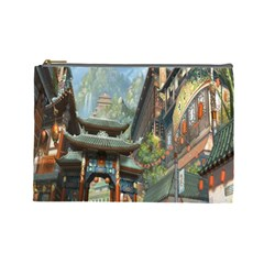 Japanese Art Painting Fantasy Cosmetic Bag (large)  by Amaryn4rt