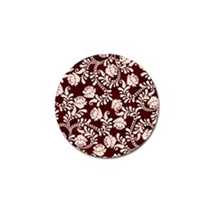 Flower Leaf Pink Brown Floral Golf Ball Marker (10 Pack) by Alisyart