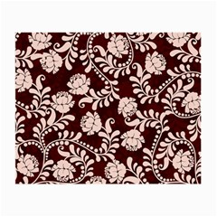 Flower Leaf Pink Brown Floral Small Glasses Cloth (2 Side) by Alisyart