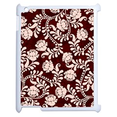 Flower Leaf Pink Brown Floral Apple Ipad 2 Case (white) by Alisyart