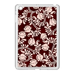Flower Leaf Pink Brown Floral Apple Ipad Mini Case (white) by Alisyart
