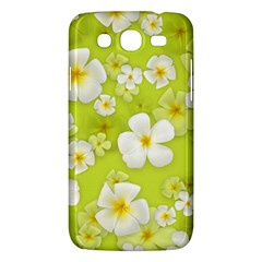 Frangipani Flower Floral White Green Samsung Galaxy Mega 5 8 I9152 Hardshell Case  by Alisyart
