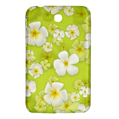 Frangipani Flower Floral White Green Samsung Galaxy Tab 3 (7 ) P3200 Hardshell Case  by Alisyart