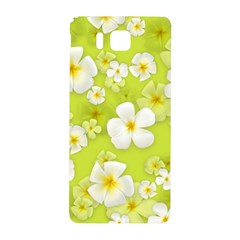 Frangipani Flower Floral White Green Samsung Galaxy Alpha Hardshell Back Case