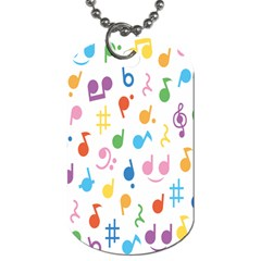 Notes Tone Music Purple Orange Yellow Pink Blue Dog Tag (two Sides) by Alisyart
