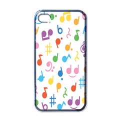 Notes Tone Music Purple Orange Yellow Pink Blue Apple Iphone 4 Case (black) by Alisyart