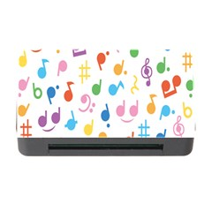Notes Tone Music Purple Orange Yellow Pink Blue Memory Card Reader With Cf by Alisyart