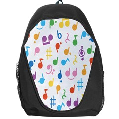 Notes Tone Music Purple Orange Yellow Pink Blue Backpack Bag by Alisyart