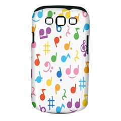 Notes Tone Music Purple Orange Yellow Pink Blue Samsung Galaxy S Iii Classic Hardshell Case (pc+silicone)