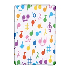 Notes Tone Music Purple Orange Yellow Pink Blue Apple Ipad Mini Hardshell Case (compatible With Smart Cover) by Alisyart