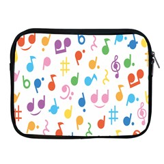 Notes Tone Music Purple Orange Yellow Pink Blue Apple Ipad 2/3/4 Zipper Cases by Alisyart