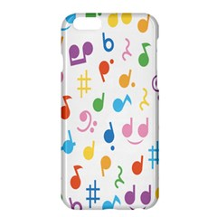 Notes Tone Music Purple Orange Yellow Pink Blue Apple Iphone 6 Plus/6s Plus Hardshell Case