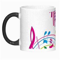 Musical Notes Pink Morph Mugs