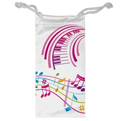 Musical Notes Pink Jewelry Bag