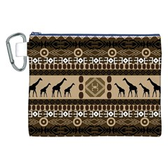 African Vector Patterns  Canvas Cosmetic Bag (xxl) by Amaryn4rt